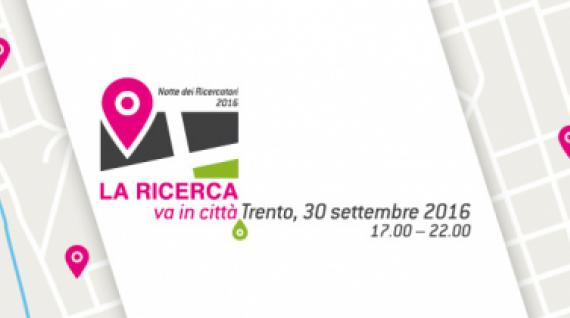 """""""RESEARCH GO IN THE CITY"""": A TRENTO, SEPTEMBER 30"""