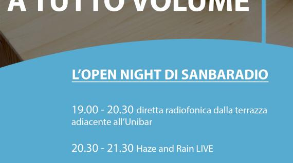 Sanba a tutto volume... Sanbaradio's open night! 8 May 2018