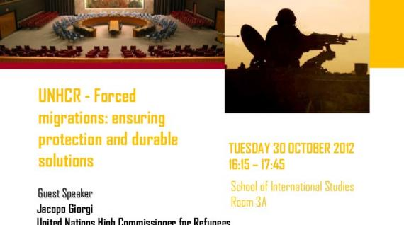 "GUEST LECTURE: ""UNHCR - Forced migrations: ensuring protection and durable solutions"""