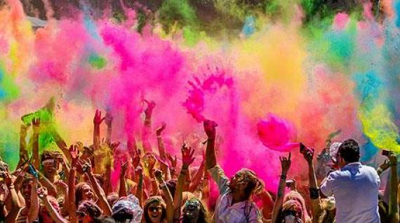 HOLI GAUDY: colour your day.