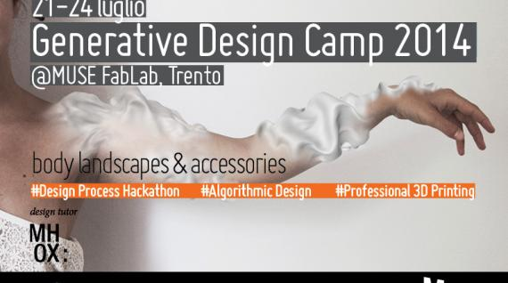 MUSE FabLab: al via il primo Generative Design Camp